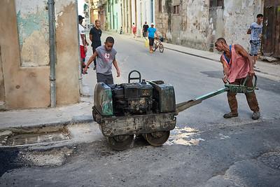 Street work, Old Havana.