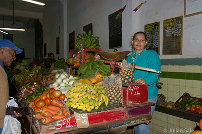 This is one of the very few fruit and vegetable stores we saw in all of Old Havana.  We did not see anything resembling a supermarket.
