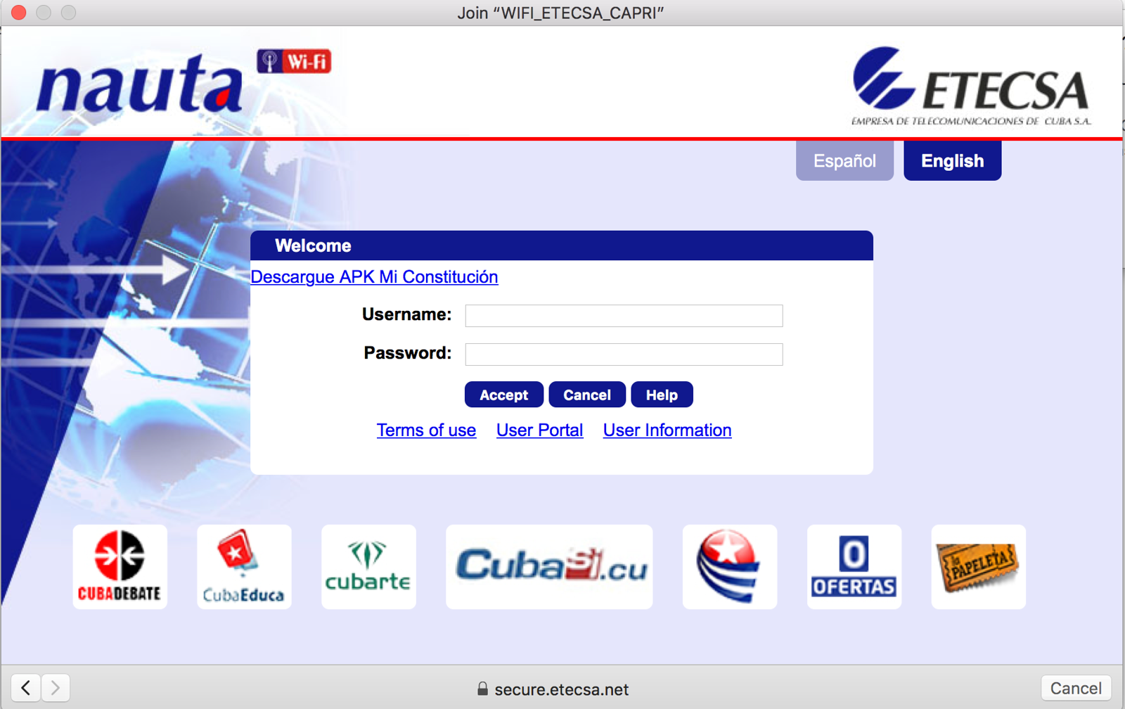 Wifi in Cuba, this is how to log onto Internet in Cuba with an Internet card.