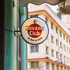 Havana Club bar sign advertising the famous Cuban brand in old Havana