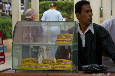 """We were warned not to eat the """"street food"""" which always was kept unrefrigerated, and often not even covered."""