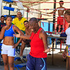 Boxing coach Nardo Mestre Flores trains young boxers at the famous Rafael Trejo Boxing Gym in Havana, Cuba