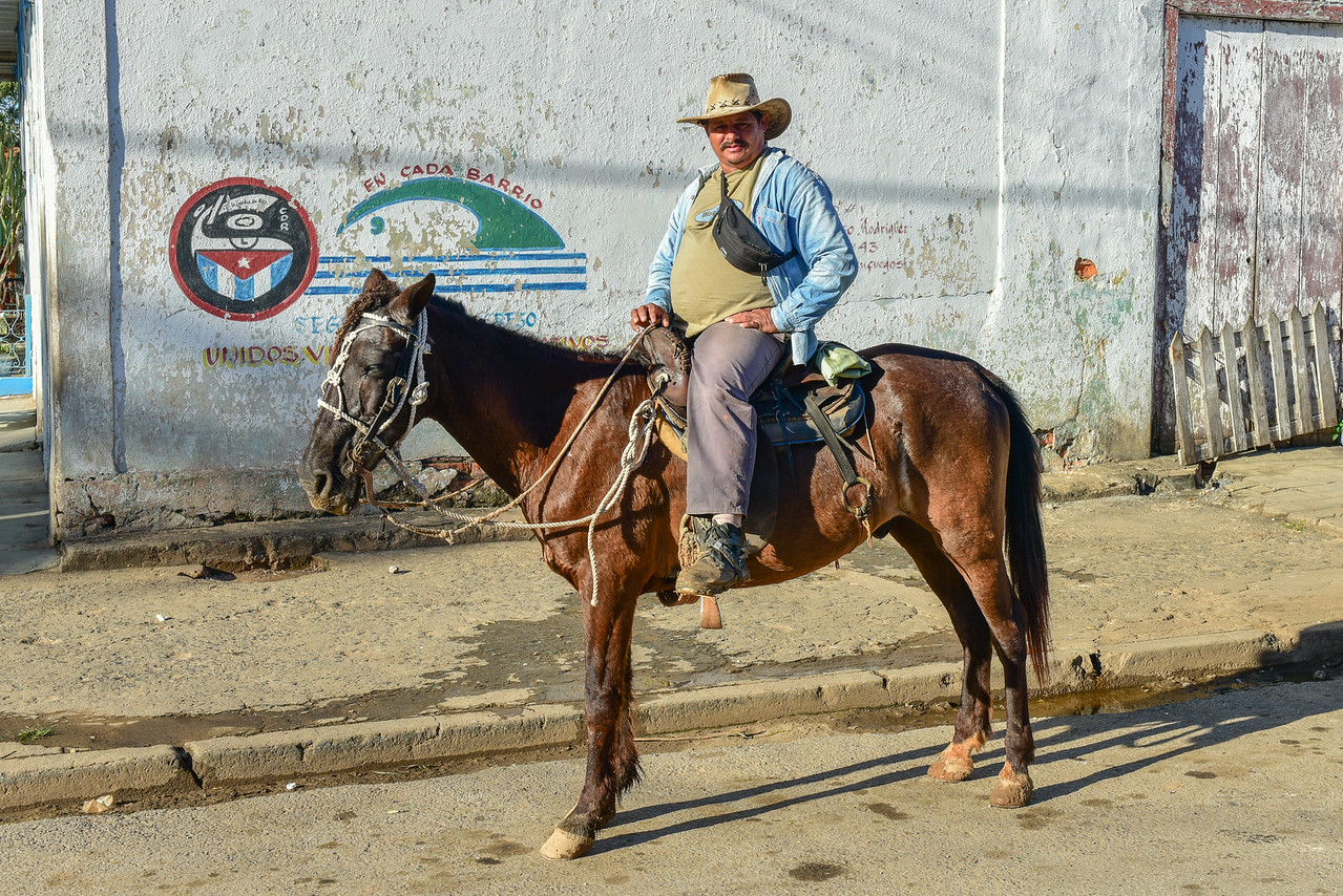 Cuban Traveling By Horseback
