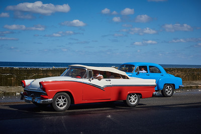 American old-timers on the Malecón in Havana.