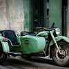 Ural motorocycle with side car, Havana, Cuba<br /> © Douglas Remington - Ethereal Light Photography, LLC. All Rights Reserved. Do not copy or download.