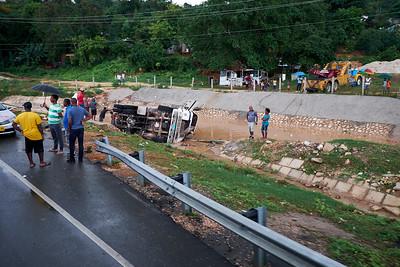 Little traffic issue, Montego Bay, Jamaica.
