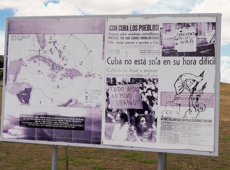 US blockade.  Missile crisis display at the Castillo de San Carlos de la Cabana, Havana, Cuba, June 11, 2016.
