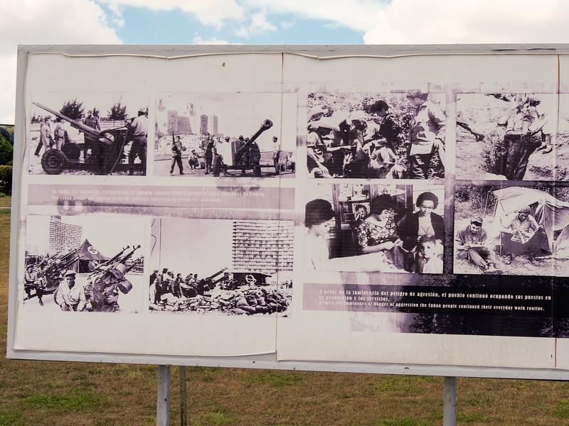 """Cubans kept to their daily work routine.""  Missile crisis display at the Castillo de San Carlos de la Cabana, Havana, Cuba, June 11, 2016."