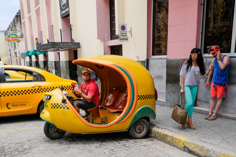 Cocotaxi, Havana, Cuba, june 11, 2016.
