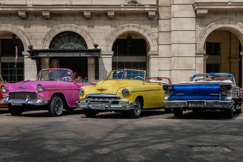 50's cars parked, Havana, Cuba, June 11, 2016.