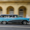 50's station wagon in motion, Havana, Cuba, June 11, 2016.