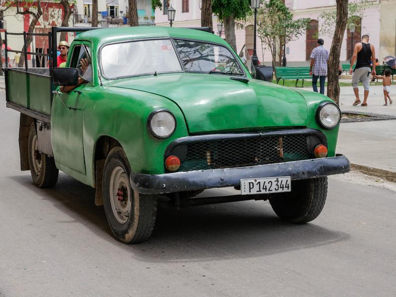 50's truck in motion, Havana, Cuba, June 11, 2016.