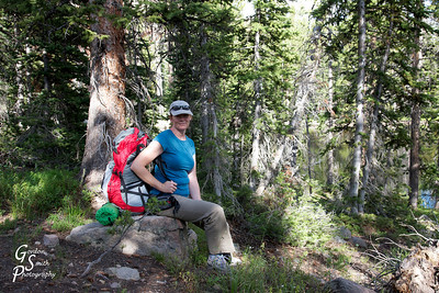 We began our hike through Uinta mountains on a very pleasant day with high clouds.