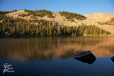 Cuberant Lake was reached just around sunset.  The air was cool and pleasant.