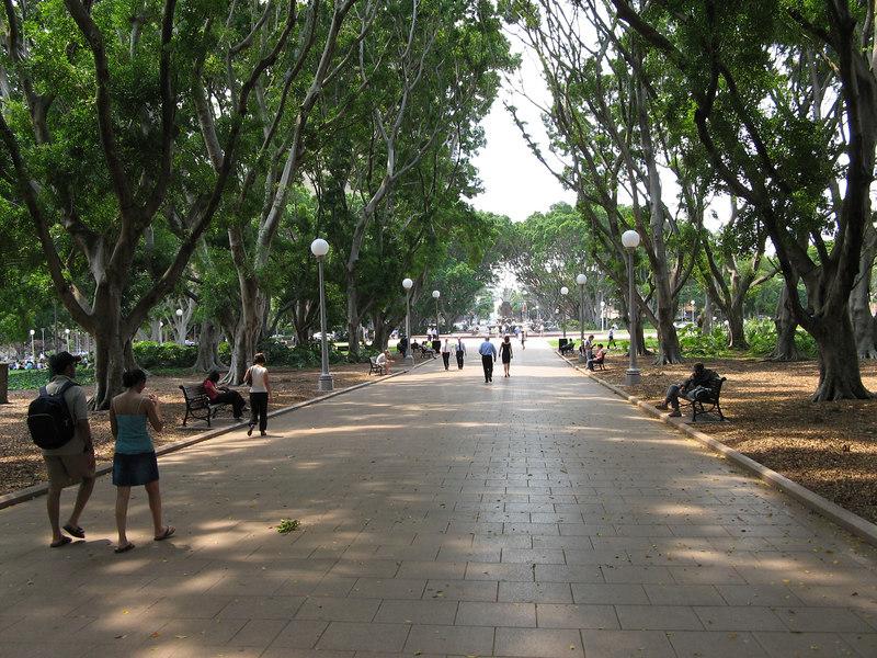 Hyde Park in downtown Sydney, Australia
