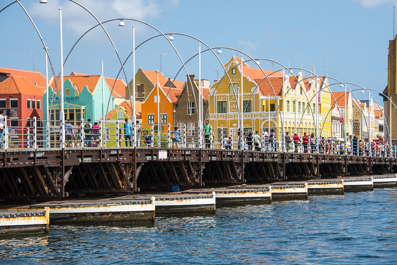 Queen Emma Pontoon Bridge in Willemstad, Curaçao - February 2013