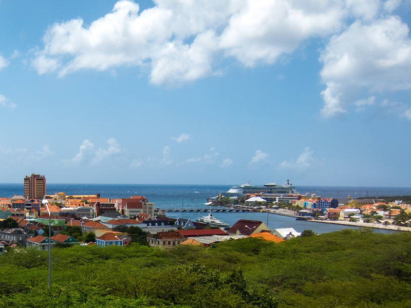 View of Willemstad from Queen Juliana Bridge, Curaçao - February 2013