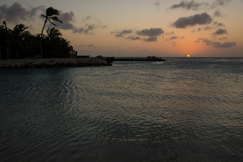 View from Lions Dive & Beach Resort Curaçao at sunset - February 2013