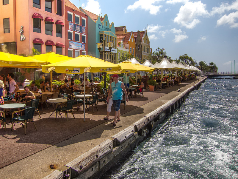 My favorite lunch area in Willemstad, Curaçao - February 2013
