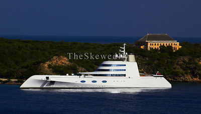 This is how Captain Nemo rolls these days. The abandoned Quarantine House (former isolation hospital) is behind the yacht.