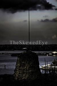 Flagpole near Fort Nassau.
