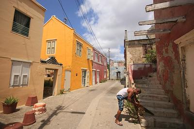 De wijk Otrobanda, Willemstad, Curaçao.