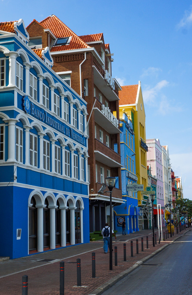 Colorful Row, Willemstad, Curacao