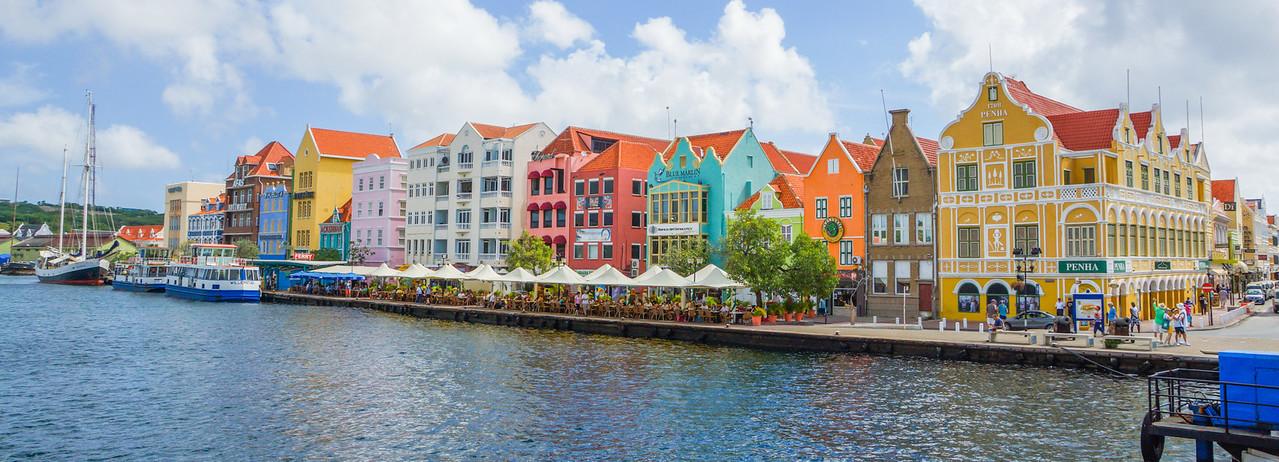 Handels Kade Panorama, Willemstad, Curacao