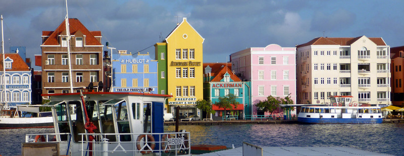 Punda district of Willemstad Curacao
