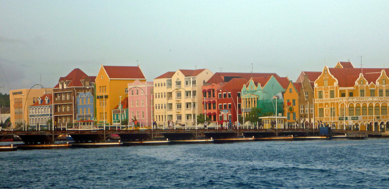 Queen Emma bridge is a pontoon bridge across St. Anna Bay in Curacao