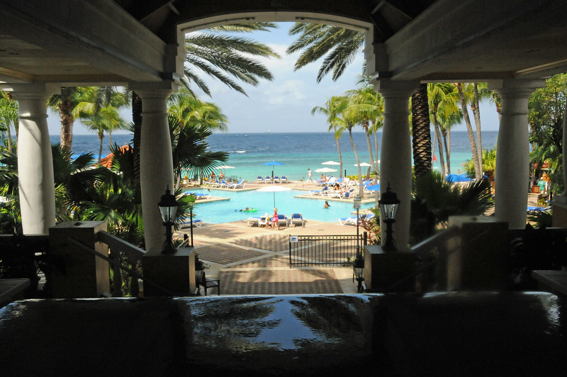 View of pool at Curacao Marriott Beach Resort
