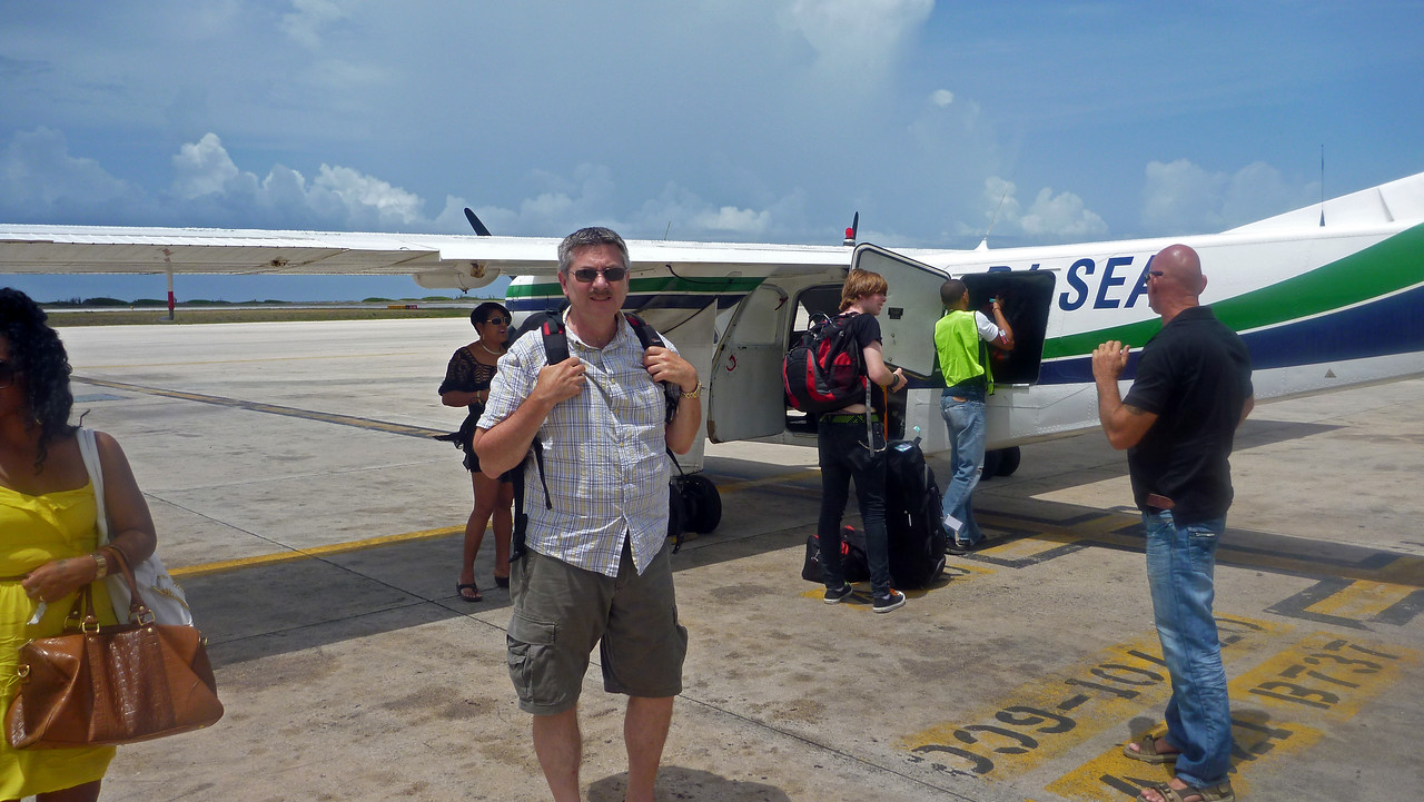 Divi Divi Air. Small plane taken from Bonaire to Curacao