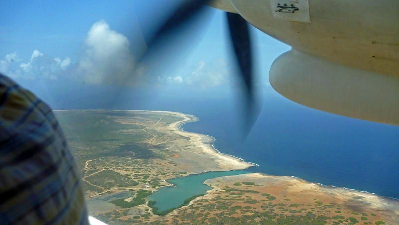 Flying over Bonaire