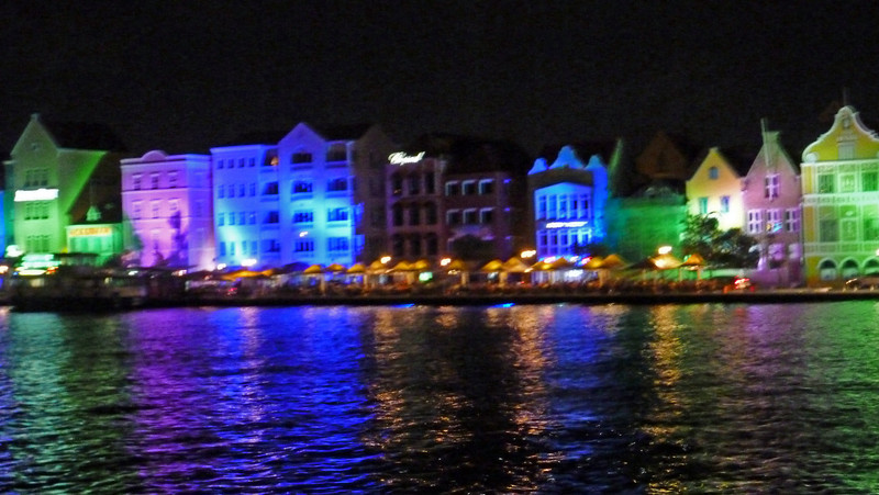 Punda district Willemstad at night