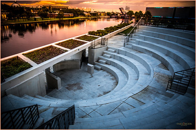 The Amphitheater next to the Hillsborough River.