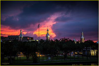 The University of Tampa on the west bank of the Hillsborough River
