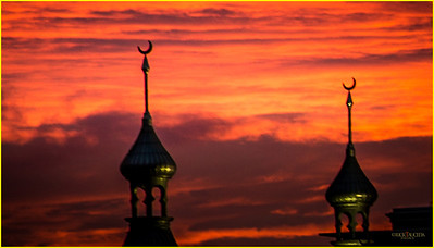 Nope, not Istanbul. The minarets of Plant Hall at the University of Tampa as the burning dusk recedes into the night.
