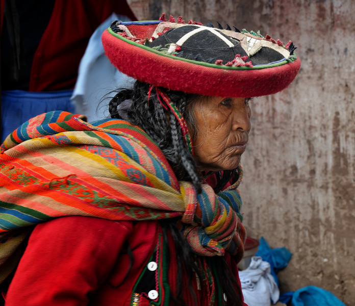 A woman from the mountains. Francis is worried that this may be the last generation of woman to wear traditional clothes. TV and the internet are working their way ever deeper into small village life