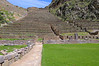 The ruins at Ollantanytambo.  More terraces leading a temple above (and more Inca stairs)