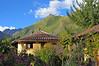 The Sol y Luna Lodge is a series of circular cabins and stunning flower gardens in a spectacular Andes setting.