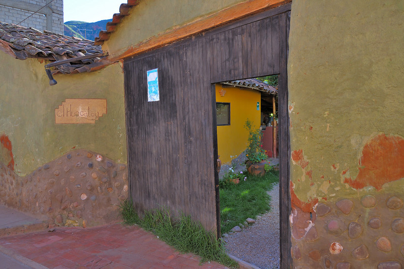 The front door of a great restaurant in Urubamba.  The Cordon Bleu trained chef just likes it here.