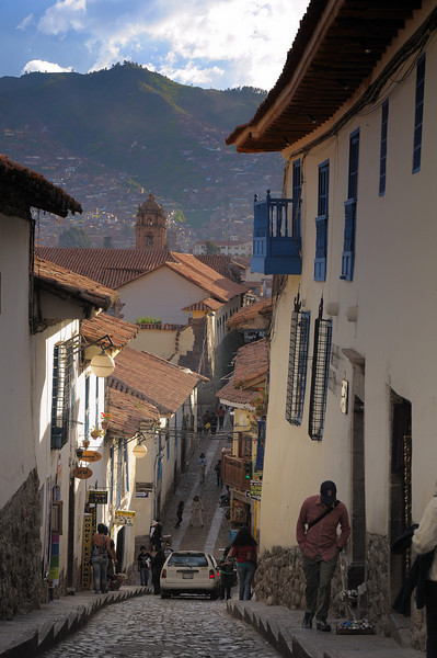 ... and narrow Inca streets in Cusco