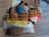 Bread sellers on the street in Cusco.