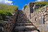 The first of what was to become the bane of our existence, Inca stairs.  You can't see much if you don't climb them.