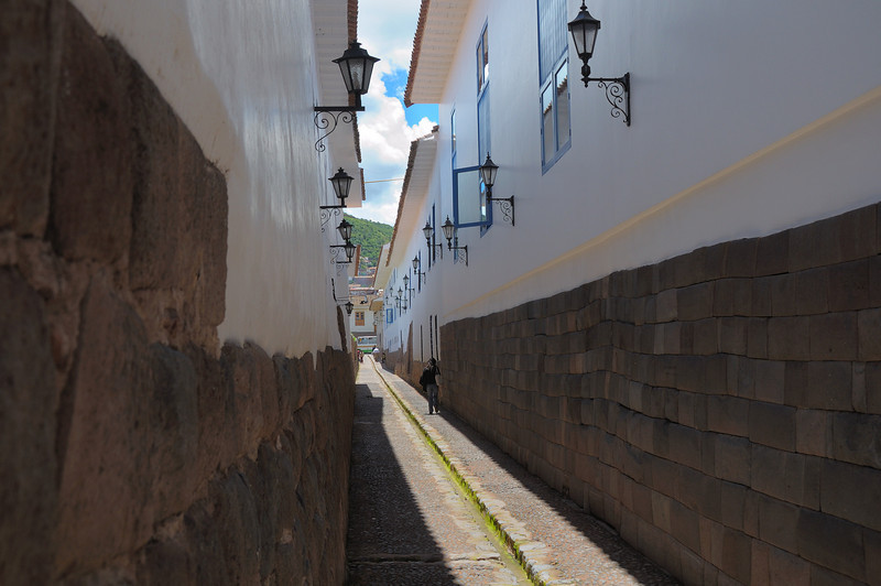 Much of the old town is built on former Inca foundations and layed out along the old Inca streets.