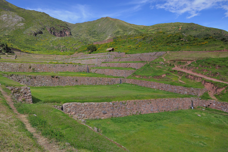 The ruins of Tipon; another series of terraces with aqueducts carrying water along the sides of the fields and channeled waterfalls for changing levels.