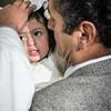 Salma después del susto del bautizo en la parroquia Santísima Trinidad de Mariscal Gamarra en Cusco
