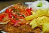 Trucha a la chorrillana - Restaurante El Emperador - Calca - Valle Sagrado de los Incas - Cusco - Perú