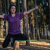 Equilibrio en el slackline - Bosque Quenqo - Villa San Blas - Cusco - Perú