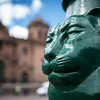 Detail of a lamppost on the Plaza de Armas - Cusco - Peru